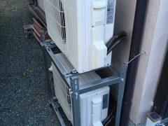 『二段置きアングルパターン』エアコン施工事例