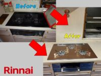 Construction example of built-in gas stove ③