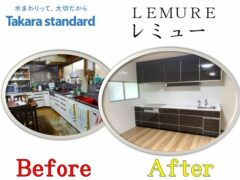LEMURE_takara-standard_Kitchen remodeling construction example