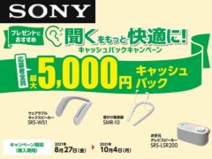 sony_Make listening more comfortable! Cashback campaign
